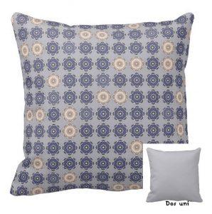 Coussin décoratif gris bleu Milady