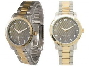 Montre bracelet unisexe 2 tons Gold 2 images