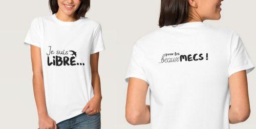 T-shirt Basic pour femme Humour avant et dos 500